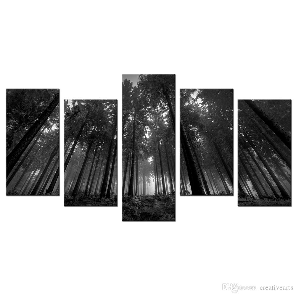 Satın Al Doğa Manzara Siyah Ve Beyaz Fotoğraf Tuval Boyama Orman