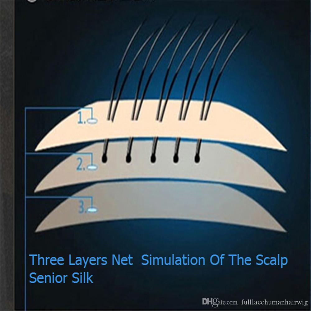 5 cap simulation of the scalp Swiss net Korea imported elastic net high quality silk of the triple net 5.5 * 5.5 Best Material filament