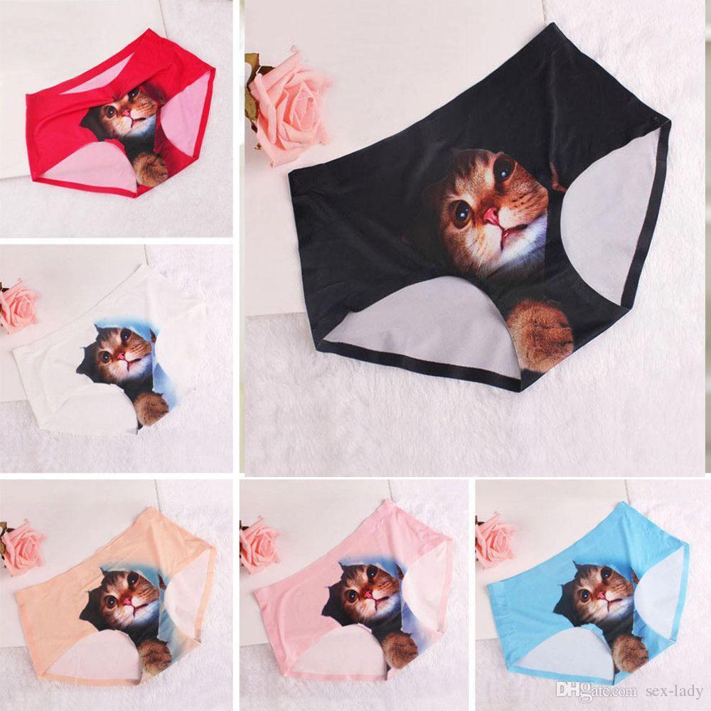 2017 Newest Women Seamless Underwear Sexy Ladies 3d Cute Cat ...