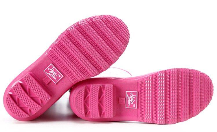 Frauen Regen Stiefel Mode Kniehohe 2016 Rosa Krokodil Muster Regen Schuhe Mädchen Sommer Gummi Wasserdicht Rainboots Damen Schuhe Rosa Frauen