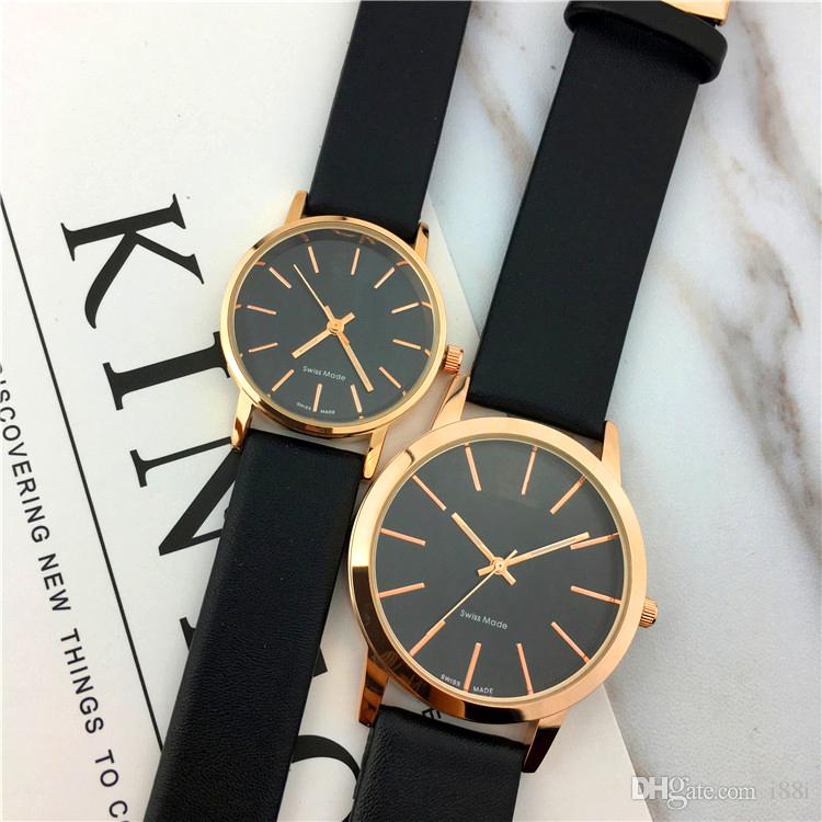 Top Brand Woman Watch Genuine Leather Nobel Female Quartz Dress Watch Black Dial Face Sports Clock Gift For Girls Japan Movement Classic