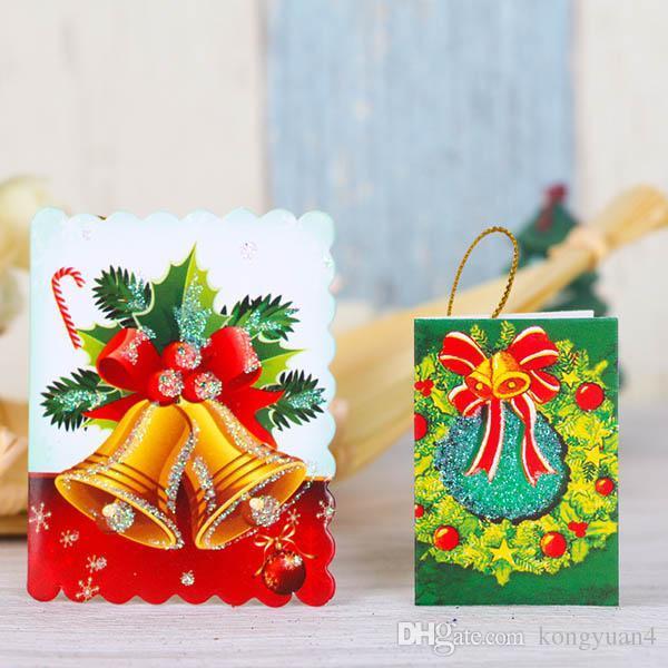 Noel Kartları Baskılı Noel Süsler Dileğiyle Kart 6.5X5.5 Cm Tatlı İstek Güzel Doğum Günü Çocuklar Hediye Için Perakende Paketi ile