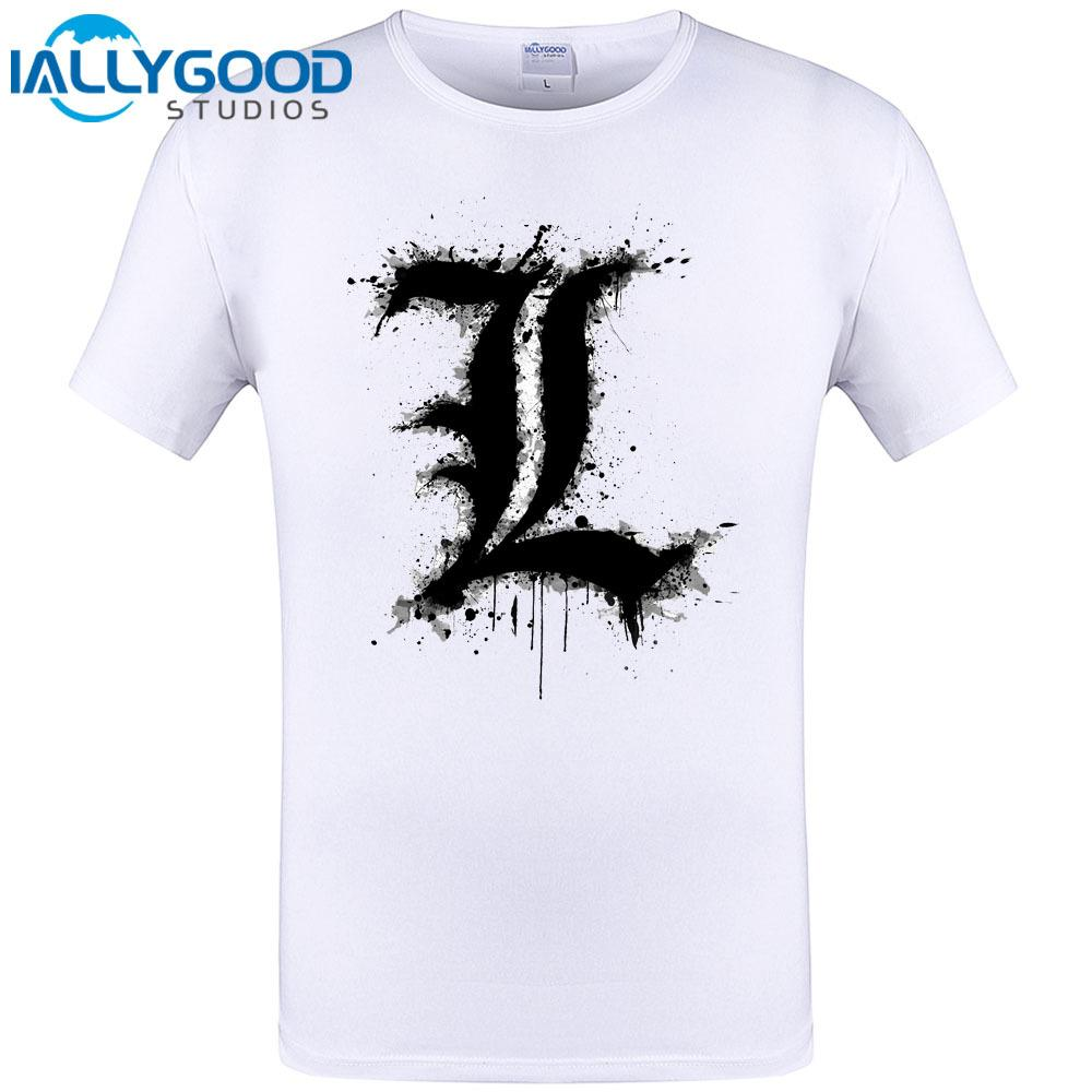 Cool Letter L Design Men T Shirt 2018 New Fashion Tops Short