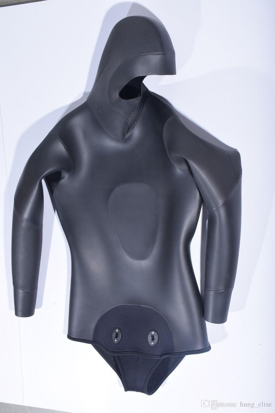 La alta calidad de 3,5 mm de camuflaje negro de buceo profesional separada wetsuit equipos de buceo Spearfiishing trajes de surf de los hombres