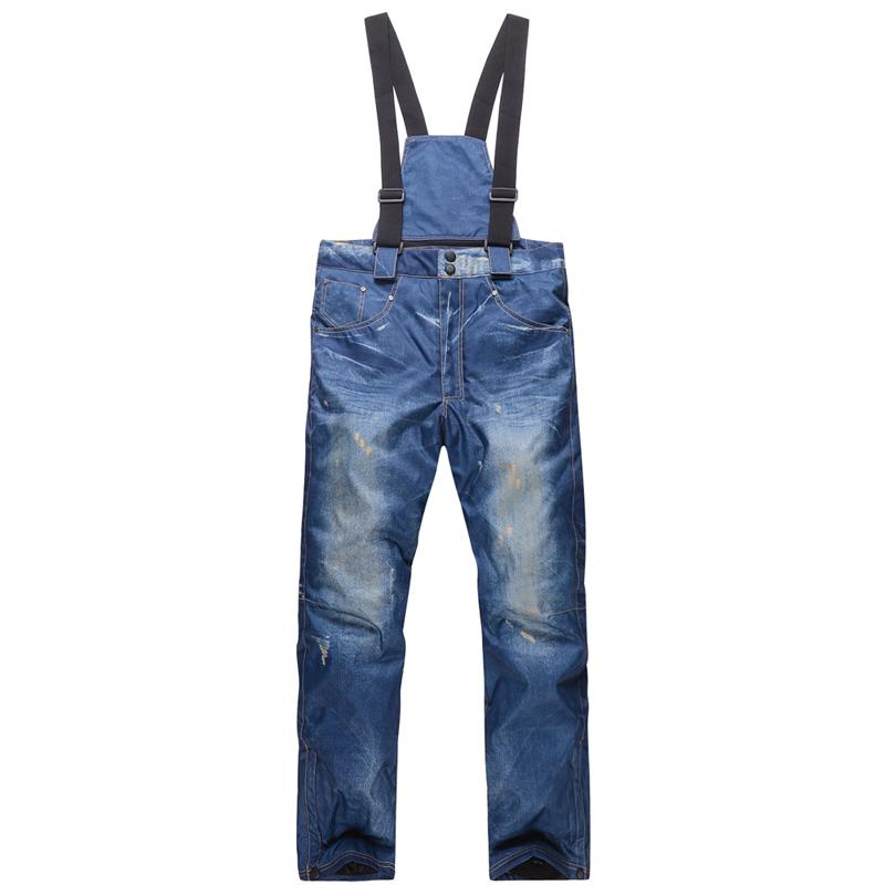 2019 Wholesale Man Cowboy Style Outdoor Boy Snowboarding And Skiing Jeans  Pant Windproof 30 Warm Winter Snow Trousers Ski Suit Strap Pant H90 From  Vanesse 5350a303b