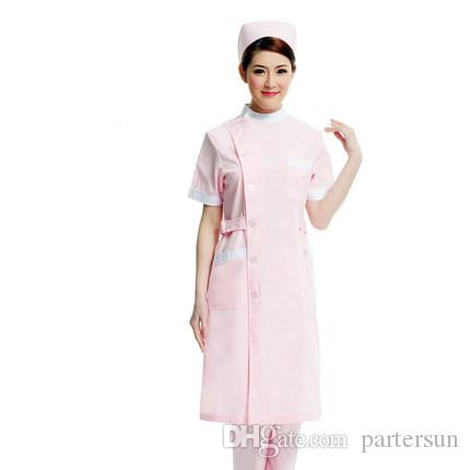 medical Doctor white long-sleeved dress nurse short sleeved uniform experiment under drugstore beauty salon overalls 152