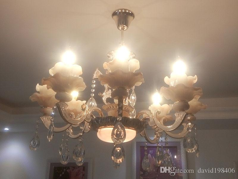 Led Crystal Light Ceiling Lamp Hall Lights Drawing Room Source Candle Bulb Warm White Pure Bathroom Chandelier