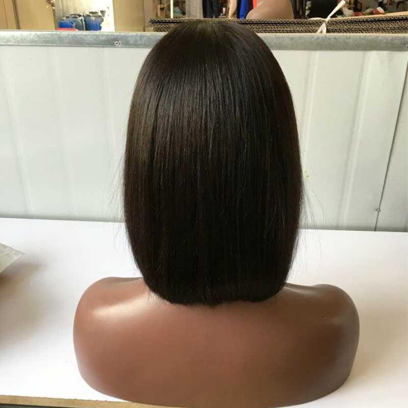 الجانب جزء الحرير الأعلى بوب الباروكة شعر الإنسان بوب الباروكات الحرير الكامل قاعدة الباروكات لأسود النساء 8a الصف الهندي العذراء الشعر