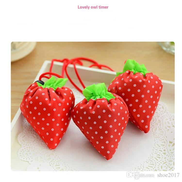 Sac à provisions en forme de fraise Sac à provisions en polyester créatif écologique