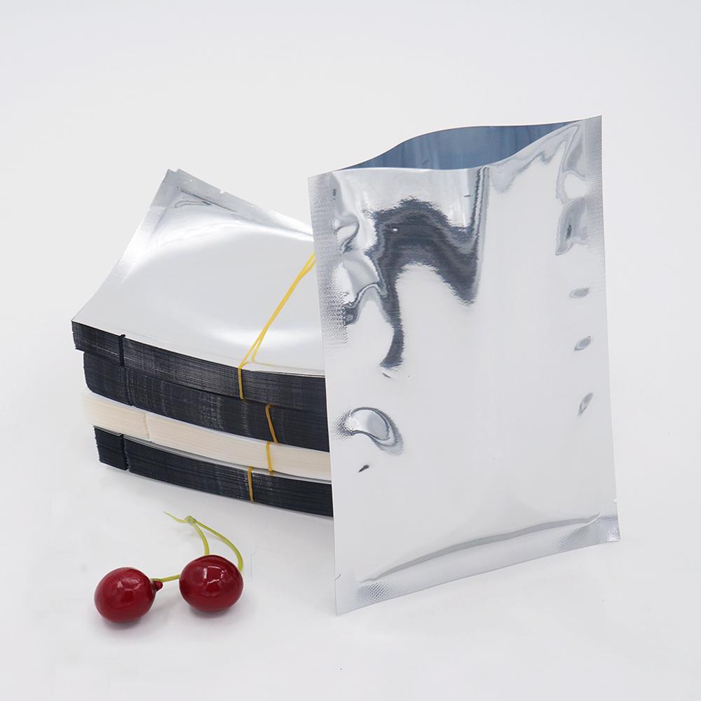 18 * 26 см алюминиевое покрытие плоский карман Термосваривание покрытие алюминиевой фольги сумка для хранения продуктов питания косметика упаковка пятно 100 / пакет