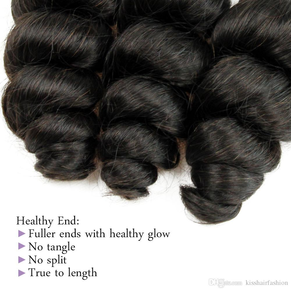 4 Bundles Loose Wave Virgin Hair Weave Bundles Processed Human Hair Extension Brazilian Malaysian Peruvian Hair Natural Color 2 4 Dark Brown