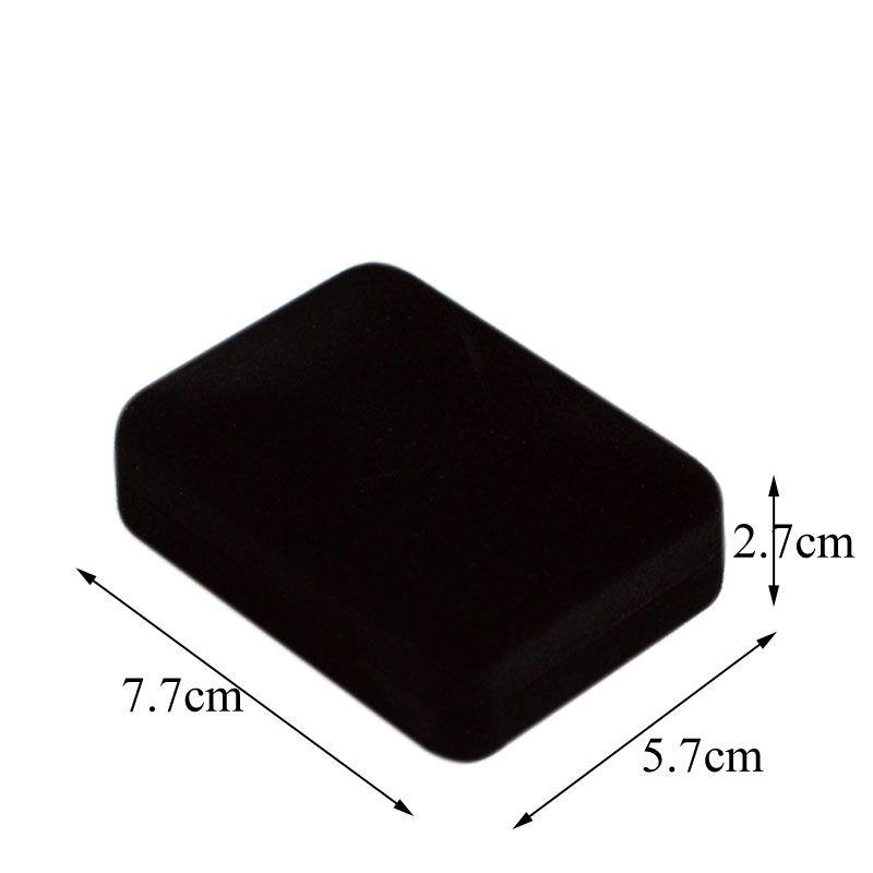 Moda 12 Adet Kadife Takı Paketi Kutusu 7.7 * 5.7 * 2.8 CM Kare Siyah Ekle Damızlık Küpe Saklama Hediye Kutusu Kolye Kutusu 2 Renk Mevcuttur