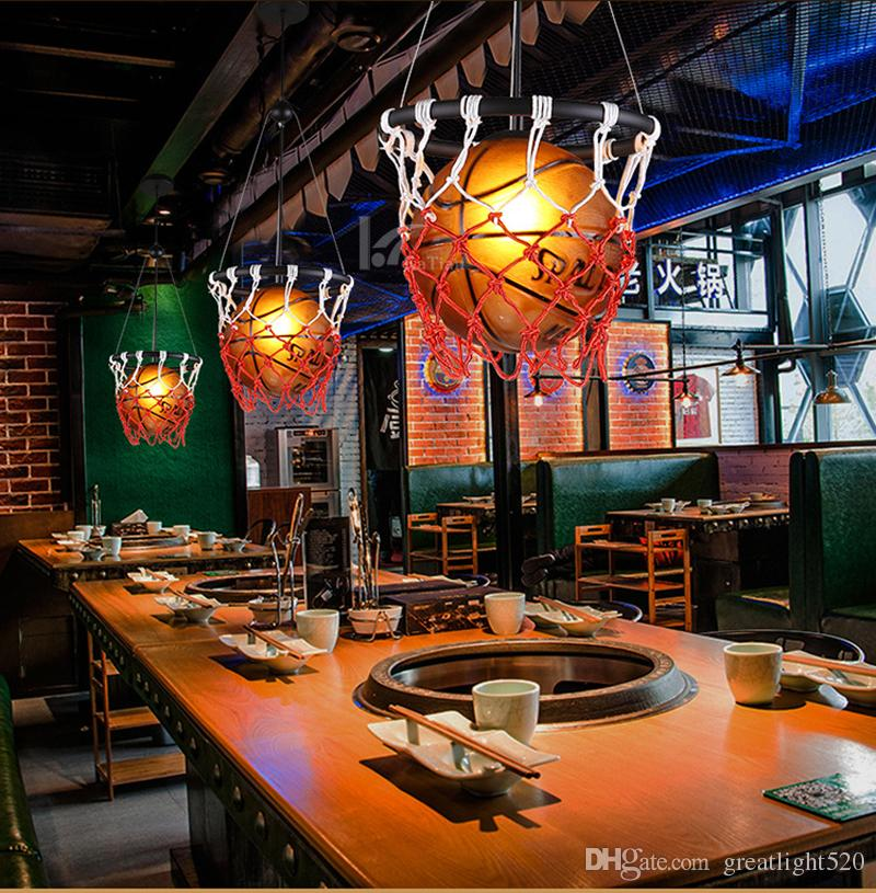 Creative Basketball Lamp Personality Restaurant Bar Stores
