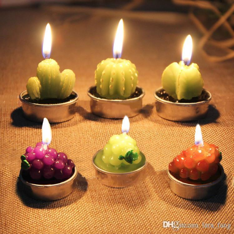 2017 New Velas Led Christmas Home Decor Rare Mini Cactus Table Tea Light  Garden Simulation Plant Decorative Wedding Candles Soybean Candles Spa  Candles From ...