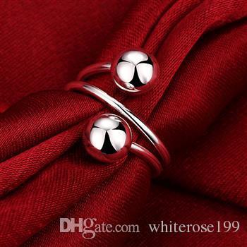 Venta al por mayor - Venta al por menor precio más bajo regalo de Navidad, envío gratis, nuevo anillo de plata 925 moda yR037