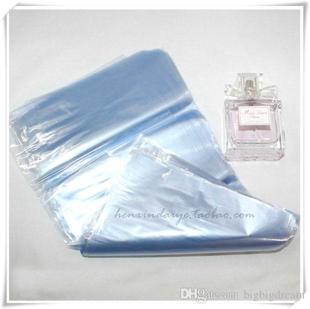 200 adet / grup PVC Isı Shrink Wrap Film Çanta Membran Plastik Ambalaj Filmi Şeffaf Isıyla Daralan Saklama Çantası Çantası