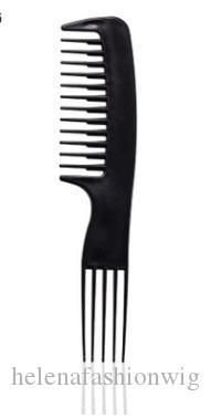 Novo preto plástico escova de cabelo pente profissional multifuncional detangling escova salão de cabeleireiro pente para cabeleireiro 20 * 4.5 cm MOQ SR 50057