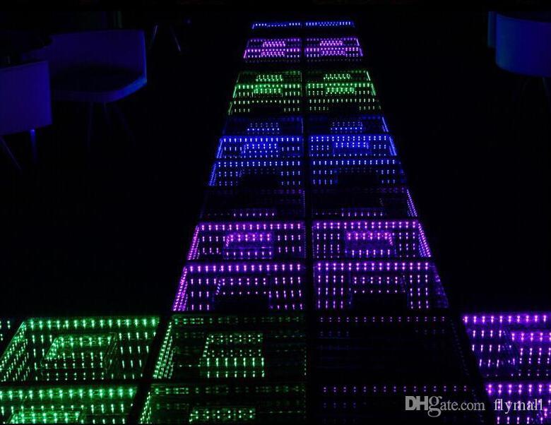 50 * 50cm Spiegel 3D führte Tanz-Fußboden-Licht mit Sd-Steuerung geführte Bühneneffekt-helle Stadiums-Fußboden-Platten-Licht-Disco-DJ-Partei-Lichter, die Dekor Wedding sind
