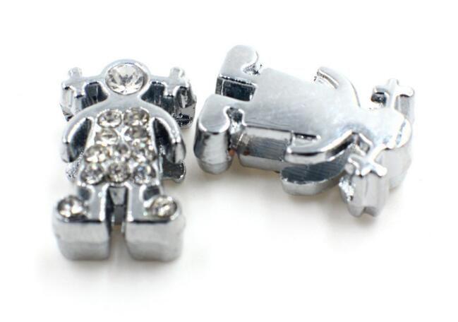 Großhandel 100 teile / los 8mm strass mädchen diacharme diy schmuckzubehör fit für 8mm armband armband als geschenk
