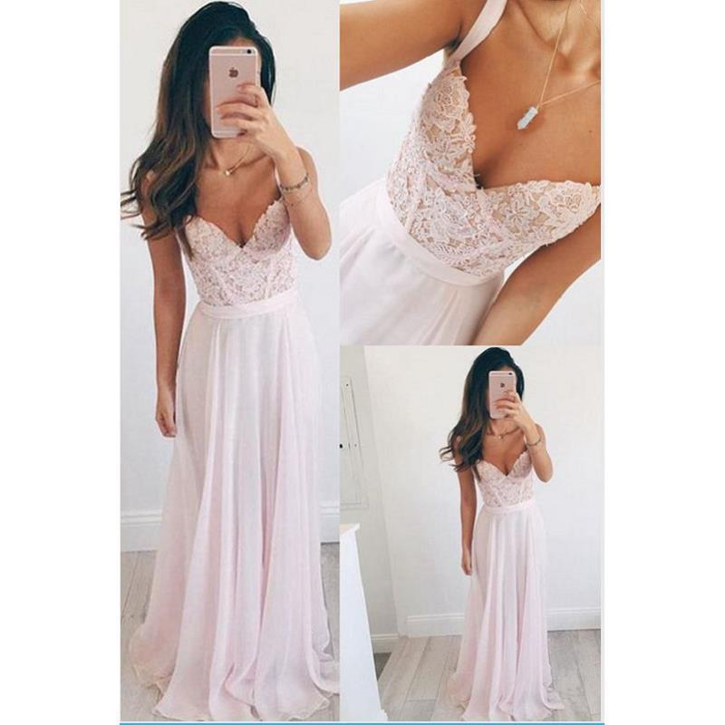 Light pink long formal dress