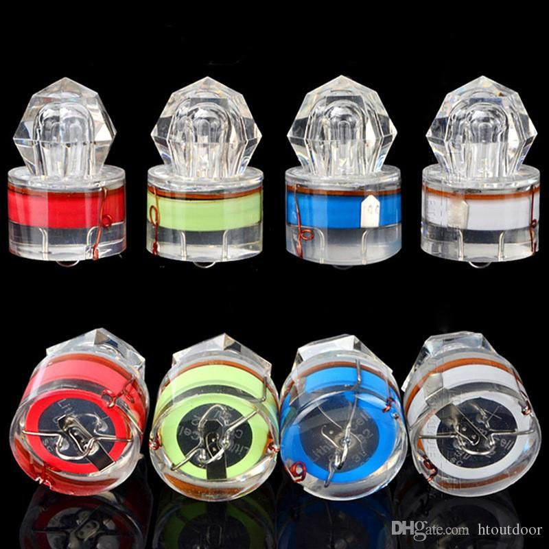 LED Deep Drop Underwater Diamond Fishing Flashing Light Night Fishing Bait Lure Submersible Lamp Squid Strobe