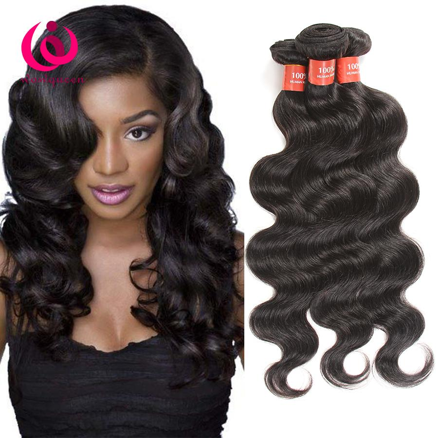 8a Malaysian Body Wave Hair Weave Bundles Double Weft Wow Queen
