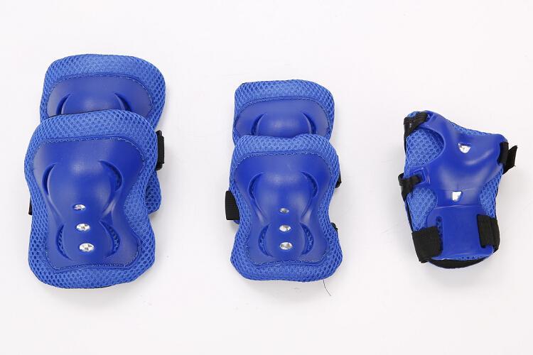 Niños deportes equipo de protección 6 piezas patinaje en línea conjunto de engranajes de protección rodilla y codo Pad Set buena calidad