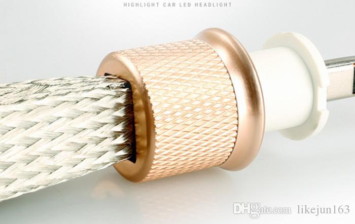 45W 5000lm двойной цвет автомобиля светодиодные фары H4 H1 H7 H3 H11 9005 9006 9012 880 881 фары светодиодные лампы замена
