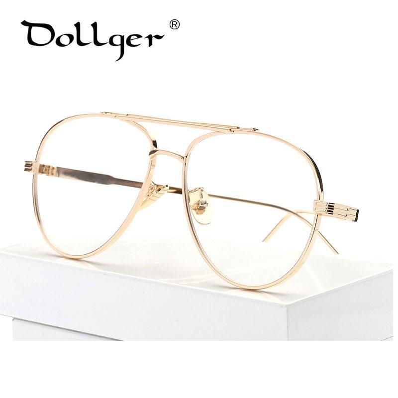 2018 Wholesale Dollger Gold Silver Pilot Eyewear Frames Men Brand ...