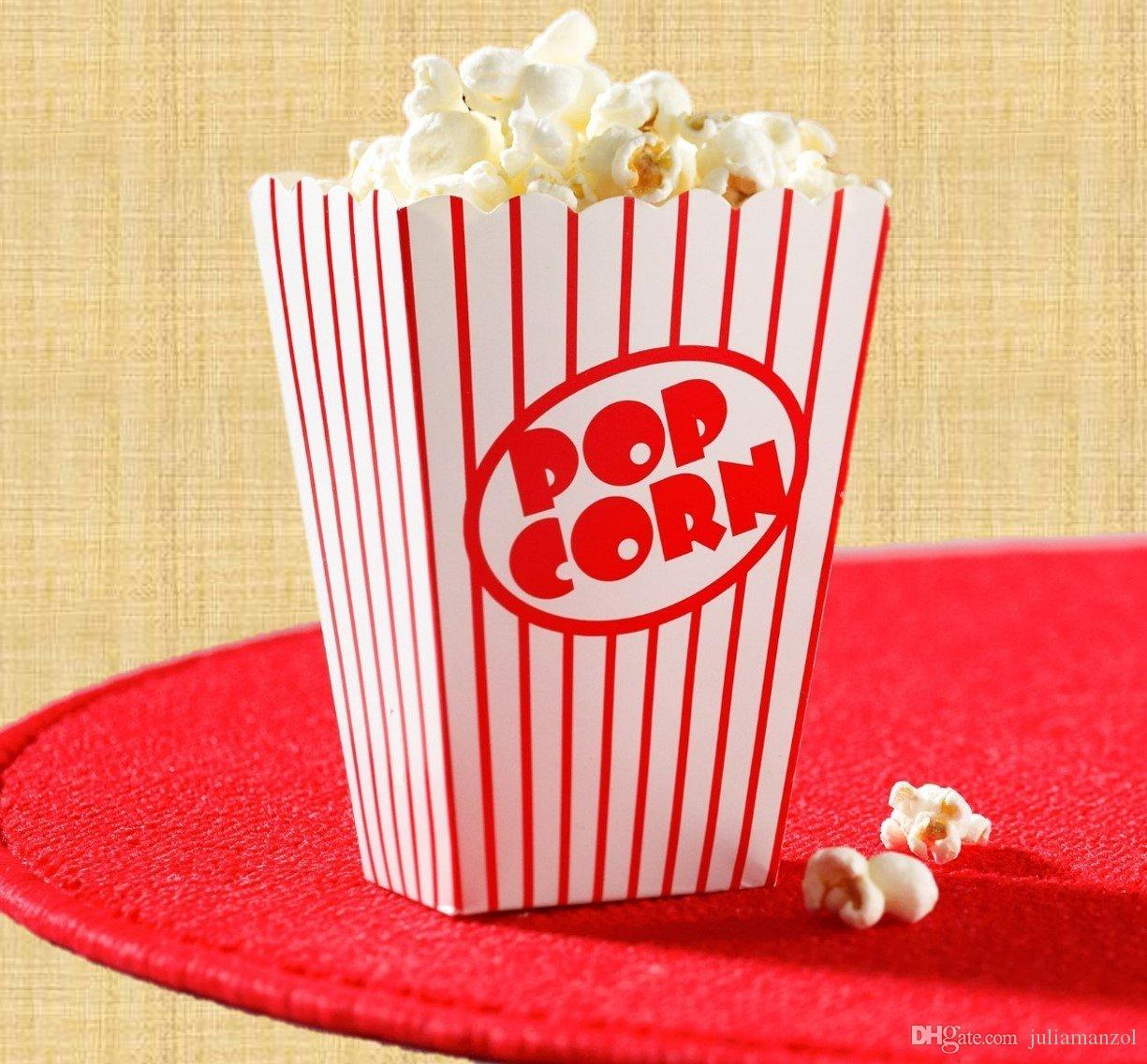 Best Movie Party Popcorn Boxes Striped White And Red ...