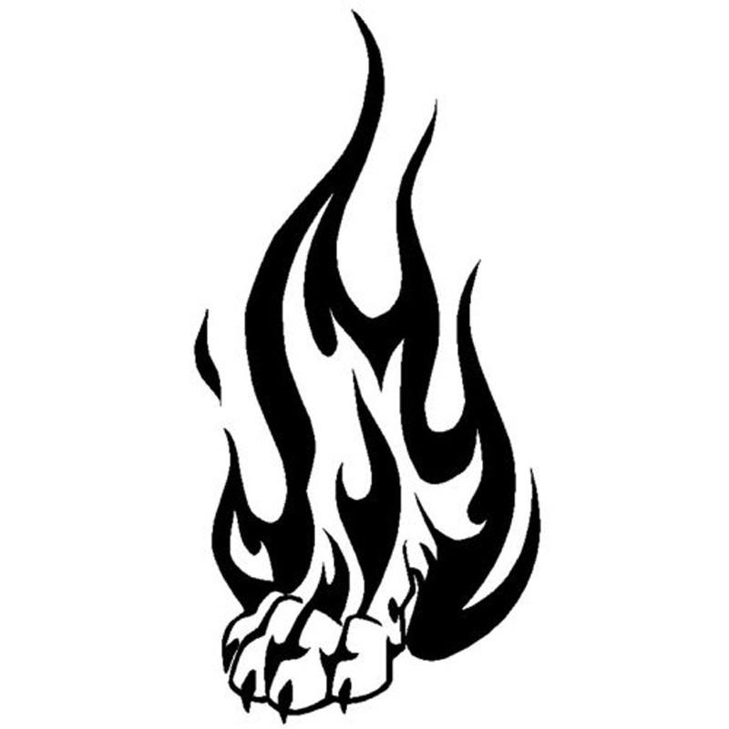 New Design Car Stying Tribal Flame Wolf Paw Print - Motorcycle tribal custom stickers designmotorcycle sticker tribal promotionshop for promotional