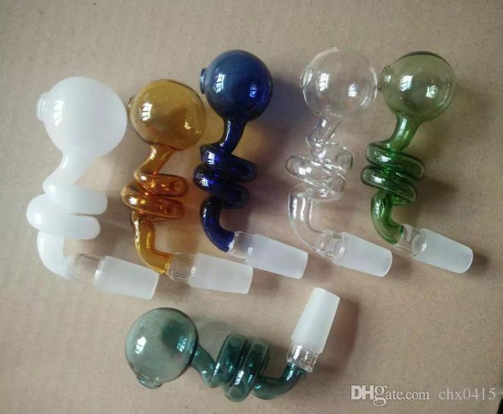 Accesorios para bongs con quemador de rosca, quemador de aceite Tubos de agua Tuberías de agua Tuberías de vidrio Plataformas petroleras Fumar con cuentagotas Bongs de vidrio Accesorios