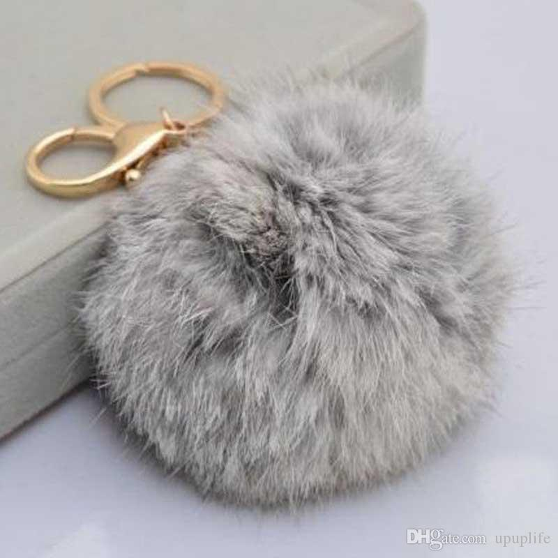 Hot Cute Furry Rabbit Fur Ball Keychain Handbag Grey Pink Black Furry  Pendant Key Chain Keyring Bag Charms For Women Girls Gift UK 2019 From  Upuplife bba98e77e
