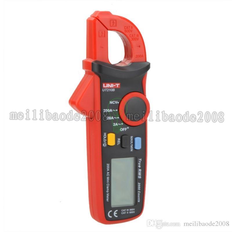 UNI-T Professional Multifunction True RMS 200A AC Mini Clamp Meters Ammeter w/ NCV Test & LCD Backlight UT210B Amperimetro MYY