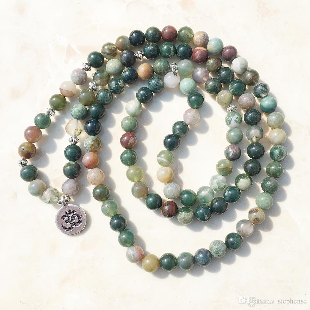 SN1034 горячей продажи мода женщин обернуть браслет модные Индия Агат ожерелье 108 мала фантазии яшма бусины Breaclet