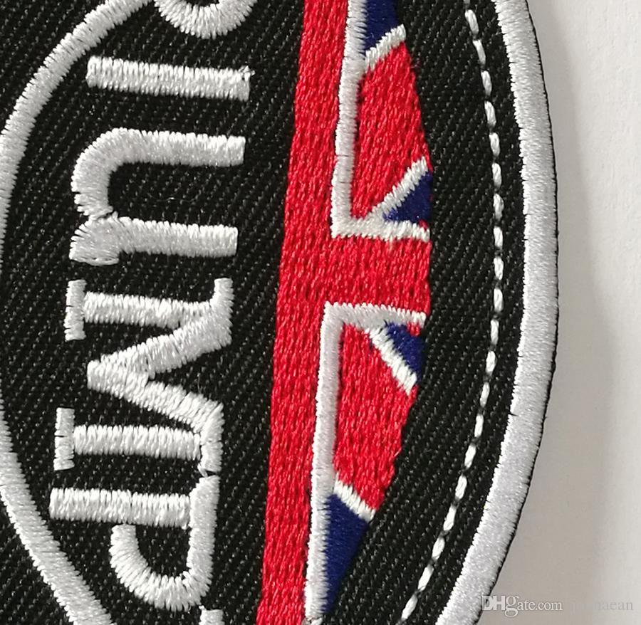 M.C 10 * 7 cm The Classical Union Flag Toppa ricamata MOTO RICAMBI TRIUMPH su toppa vestiti