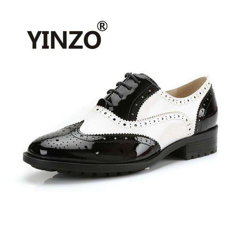 Atacado- YINZO Marca Mulheres Sapatos Nova Moda de Couro Genuíno de pele de  carneiro Sapatos Oxford Para Mulheres Do Vintage Bullock sapatos Flats  Zapatos ... 72cb3dfba45
