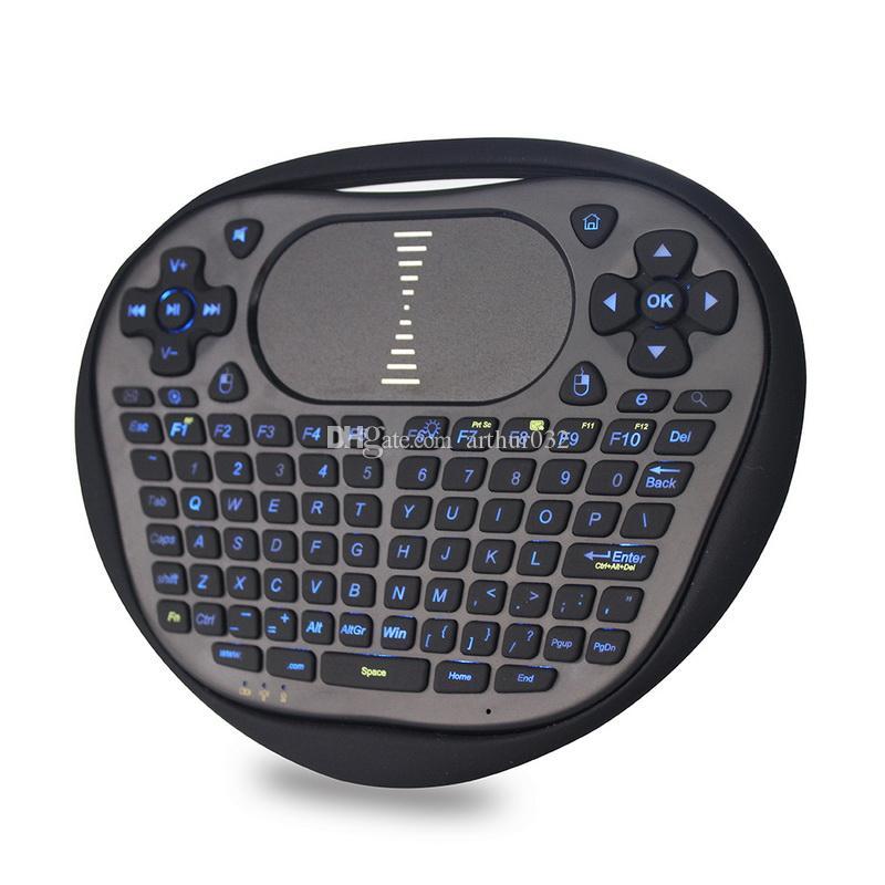 Retroilluminazione Mini tastiera wireless con touchpad 2.4G Fly Air Mouse Telecomando retroilluminato T8 Android 7.1 Smart TV Box Xbox Gamepad I8
