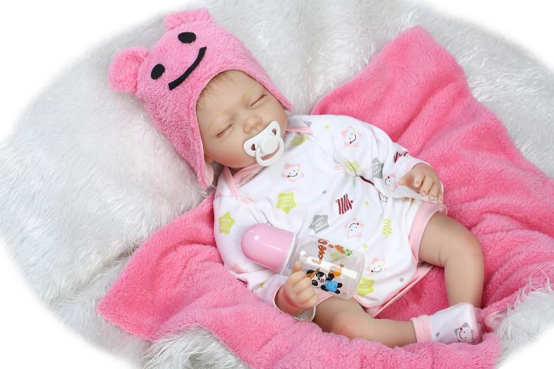 665b570b81e7 Compre Al Por Mayor 22 Pulgadas De Silicona Suave Baby Doll Renacer Realista  Realista Princesa Recién Nacidos Bebés Niños Cumpleaños Regalo De Navidad  ...