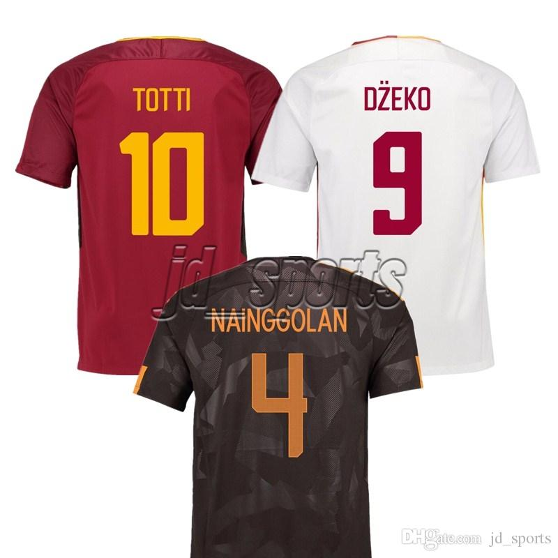e76e64195 2019 2017 18 Rome Home Away Third Dzeko Nainggolan Totti Futbol Camisa As Soccer  Jersey Football Camisetas Shirt Kit Maillot Serie A Roma From Jd sports
