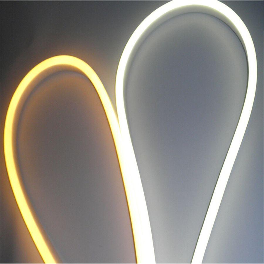 Luces de tira LED recientemente impermeables IP65 tira de LED flexible SMD2835 120 leds ambos lados brillante alto brillo es luz de neón al por mayor