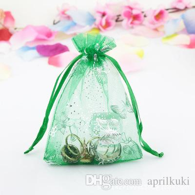 7*9cm Purple With Drawstring Organza Gift Bags Pink Red Blue White Jewelry Bags Christmas Children's Day Easter