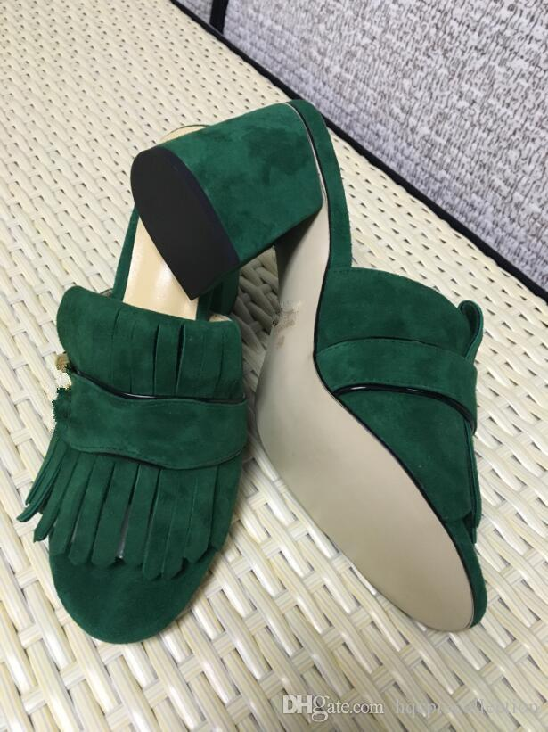 2017 hot selling women's thick heel sandals shoes office lady casual thick bottom sandals green short heels girls fashion black shoes 9 #T02