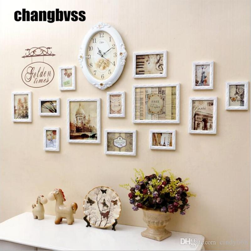 2019 Simple White Wall Photo Frame For Home Decor 5 7 10wooden Photo