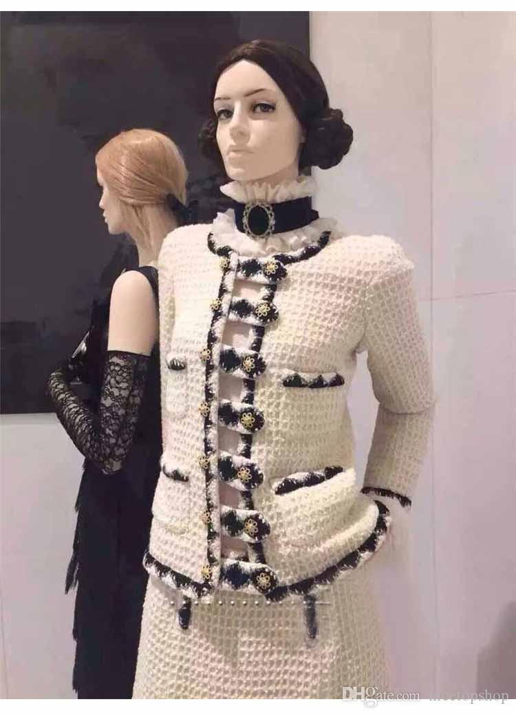 2015 Pre-Fall-Beige-Jacken-Mantel Von S bis L Korea-Sterne Haute Couture beste Qualität