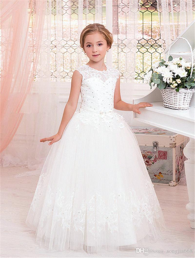 Flower Girls Kids Communion Party Gown Princess Pageant Bridesmaid Wedding Dress