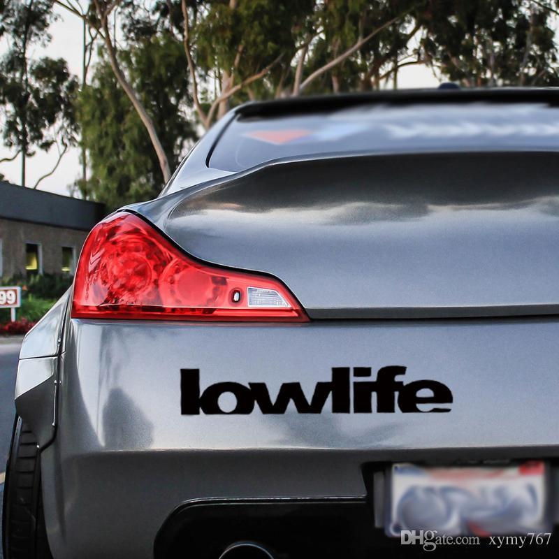 Nuovo prodotto autoadesivo di Lowlife Decalcomania tagliata autoadesiva Car Styling Vinyl Stance Jdm Accessori auto Decorare