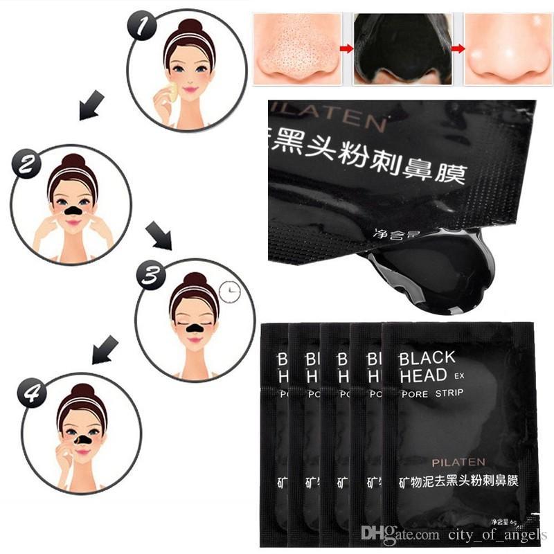 Face Care PILATEN Nose Facial Blackhead Remover Mask Minerals Pore Cleanser black maskblack mask masque points noirs