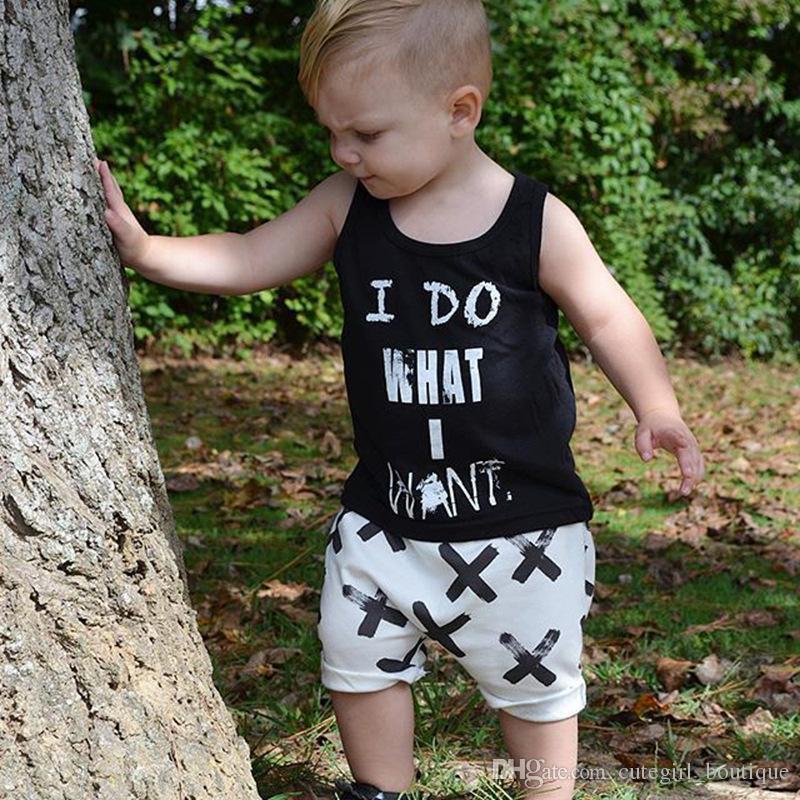 acfdcff67 2019 Baby I DO WHAT I WANT Set 2017 Boy Spring Summer Letter T Shirt ...