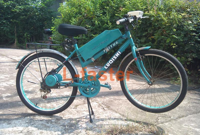 주요 스위치 및 배터리 전압이있는 자전거 전진 용 250W 전기 브러시 모터 DIY E-BIKE 용 간단한 모터 키트